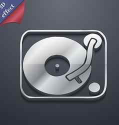 Gramophone vinyl icon symbol 3D style Trendy vector image