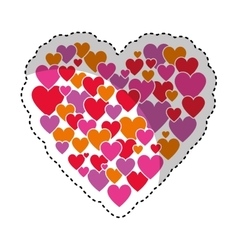heart love decoration icon vector image
