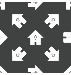 House with cross pattern vector image