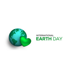 international earth day web banner for planet love vector image