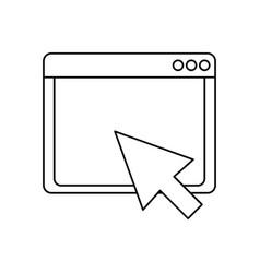 Internet browser window vector