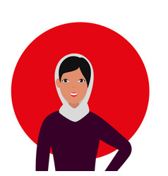 Islamic woman with traditional burka vector