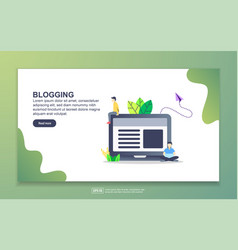 landing page template blogging modern flat vector image