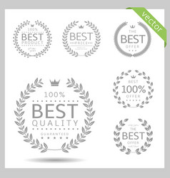 laurel wreath icons vector image