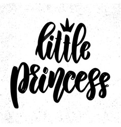 little princess lettering phrase on light vector image