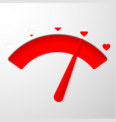 Love meter valentines day card element in simple vector