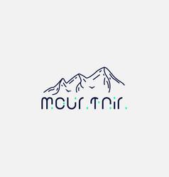 Minimalist logo mountain vector
