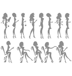 miss boo silhouettes vector image