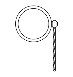Monocle icon outline style vector