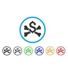 Mortal debt rounded icon vector