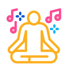 Musical man relaxation icon outline vector