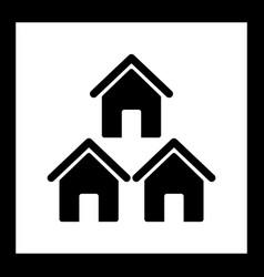 Neighborhood icon vector