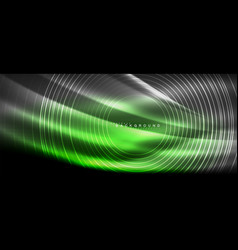 neon glowing lines magic energy space light vector image
