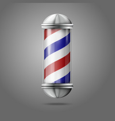 Old fashioned vintage silver glass barber shop vector image