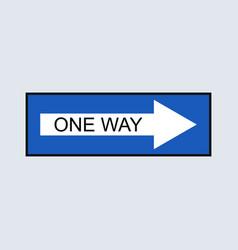 one way icon vector image