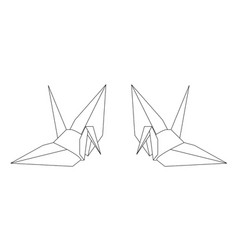 Paper bird vector