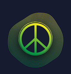 peace sign poster dark vector image