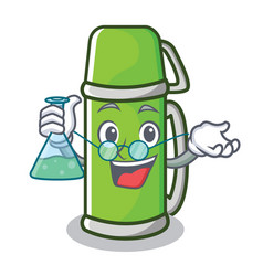 Professor thermos character cartoon style vector