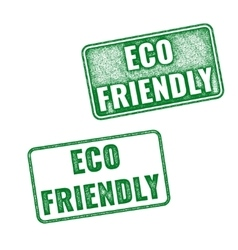 Realistic Eco Friendly grunge rubber stamp vector image
