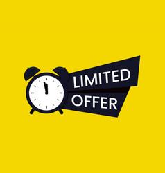 Red limited offer logo symbol or banner vector