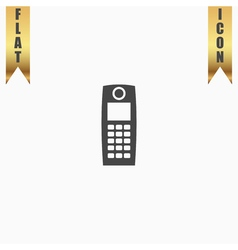 Retro mobile phone icon vector