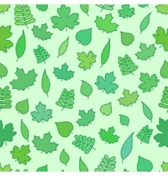 Seamless Background with tree leaves greenery and vector