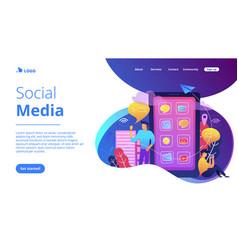 Social media landing page vector