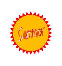 summer badge vector image