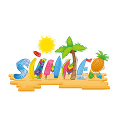 summer inscription vector image