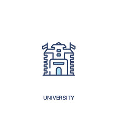 University concept 2 colored icon simple line vector
