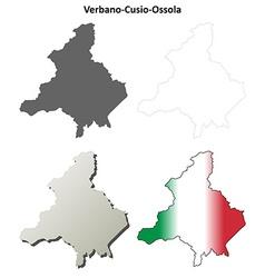 Verbano-Cusio-Ossola blank outline map set vector