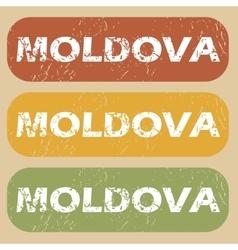 Vintage Moldova stamp set vector