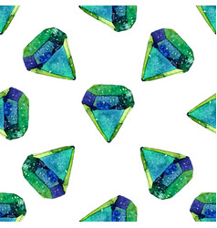 Watercolor of diamond crystals vector