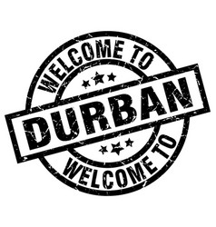 Welcome to durban black stamp vector