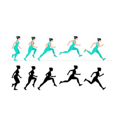 woman run vector image