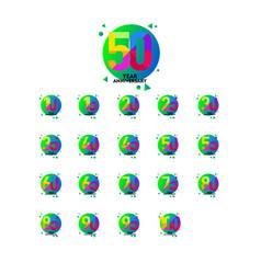 year anniversary set template design vector image