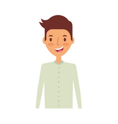 young man avatar character vector image