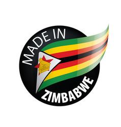 Zimbabwe flag on a white vector