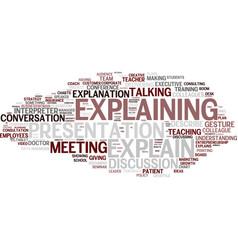 explain word cloud concept vector image