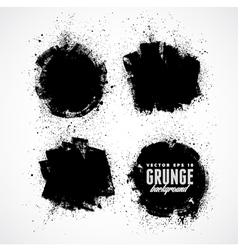 Set of four grunge banners vector image