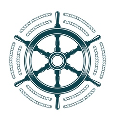 steering wheel with rope vector image