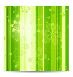 stripy floral vector image