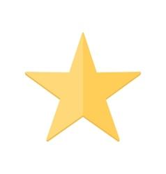 Yellow shiny star vector image vector image