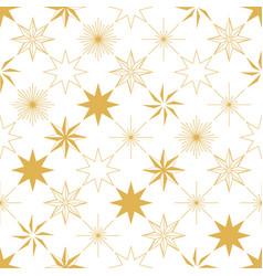 christmas star seamless pattern vector image vector image