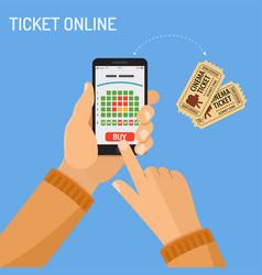 online cinema ticket order concept vector image