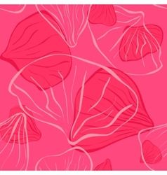 pink seamles with flower petal vector image vector image