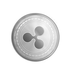 Silver ripple coin symbol vector