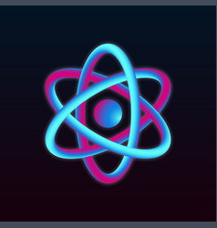 3d atom structure vector image