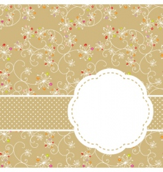 springtime seamless vector image vector image