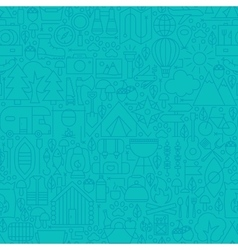 Adventure Camp Line Tile Pattern vector image vector image